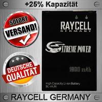 Handy Akku 1800mAh +25% BL-44JN RAYCELL  für LG E610 Optimus L5 E400 L3 E730 Sol