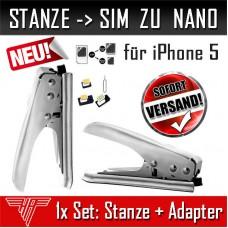 Stanze SIM zu Nano-Sim. Sim Karten Card Cutter Schneider für iphone 5