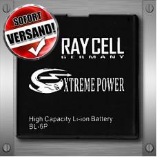 Handyakku 1130 mAh +25% RAYCELL BL-6P für NOKIA 6500 classic 7900 Prism Crystal NEU