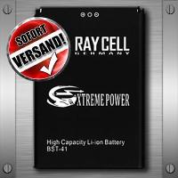Handyakku 1800 mAh +25% RAYCELL BST-41 für SONY Aspen M1 Xperia X1 /  X2 /  X10 Play