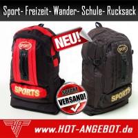 Rucksack Schule Sport Wander Freizeit Reise Outdoor Sporttasche Schulrucksack