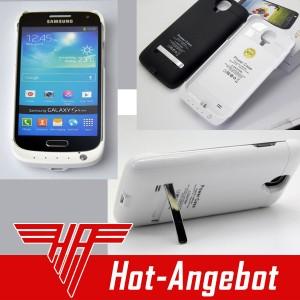 Akku Power Bank Ladestation Batterie 3000mAh für Samsung Galaxy S4 mini
