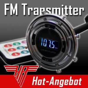 FM Transmitter MP3 Player Radio Sender Spielt von microSD, SD, USB ab PKW LKW