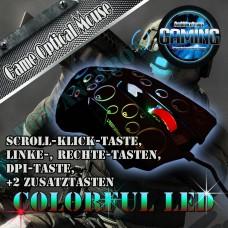 Gaming USB Maus mit farbwechselnden LED Einstellbare DPI