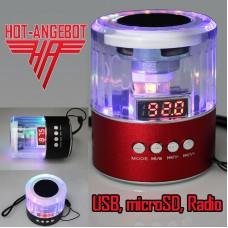 Externer Lautsprecher MP3-Player Radio USB micoSD 3,5mm
