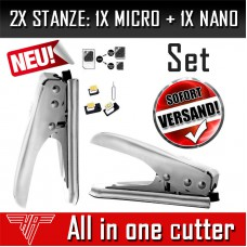 2x Stanze Micro + Nano Sim Karten Card Cutter Schneider Galaxy S3,4,5 iPhone 4,5