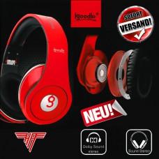 igoodlo Excellent Sound IG-6543 Stereo Kopfhörer 3,5mm weiß schwarz rot blau