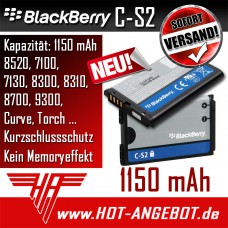 Original BlackBerry C-S2 Akku für 8520 7100 7130 8300 8310 8700 9300 Curve Torch