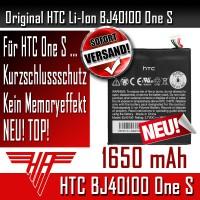 Original HTC Akku Accu Batterie BJ40100 für HTC One S OneS Z520 E 1650 mAh NEU !