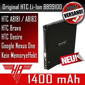 ORIGINAL HTC Akku Accu BA S410 BB99100 A8181 A8183 Bravo Desire Google Nexus One