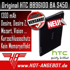Original HTC BA S420 Akku Accu für HTC Legend Buzz Wildfire G8 1300 mAh
