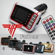 FM Transmitter MP3 Player Radio Sender Spielt von microSD, SD, USB
