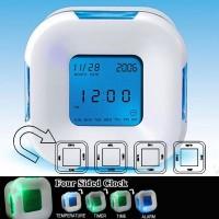 Drehbarer Wecker Uhr Temperatur Datum Kalender Timer Umdrehen um auszuschalten