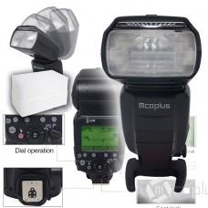 Blitzgerät für Canon E-TTL Mcoplus 600C 600 EX-RT TTL LZ60 20-200mm mit Softbox