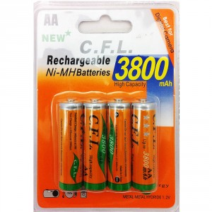 4x AA Akkus Ni-Mh 1,2V 3800 mAh Wiederaufladbare Batterien MIGNON Akku TV Blitz