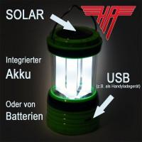 Solar Camping Laterne Zeltlampe Sturmlampe Laterne Leuchte Akku Ladegerät USB