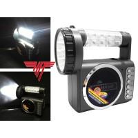 MP3 Player USB SD Akku Station Radio Licht Taschenlampe LED integr. Akku Camping