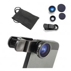 Objektivaufsatz für Handy Smartphone Tablet iPad wide-angle macro fischauge eye