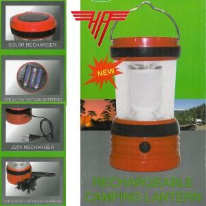 LED Solar Camping Laterne Zeltlampe Sturmlampe Laterne Leuchte Akku Ladegerät USB