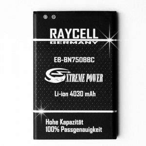 4030mAh +25% RAYCELL EB-BN750BBE Handyakku für Samsung Galaxy Note 3 Mini Neo