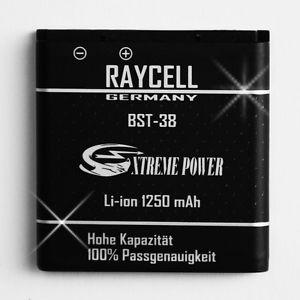 1250 mAh Akku RAYCELL BST-38 für SONY C902 C905 Jalou S312 W995 Xperia X10 mini u.a.