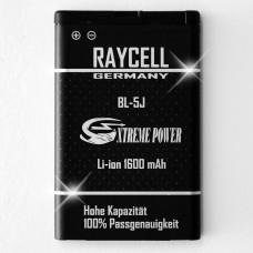 1600mAh Akku RAYCELL BL-5J für original Nokia X1-01 X6 Asha 200 / 201  302 Lumia