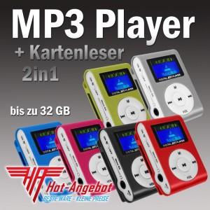 Mini MP3 Player für microSD Karten bis 32GB