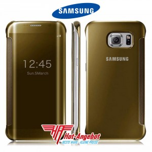 Original Samsung Galaxy S6 Clear View Cover Case Hülle Gold