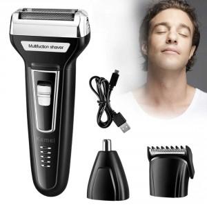 KEMEI 3 in 1 Set Haarschneidemaschine Rasierer Bart Nasenrasierer Bartschneider
