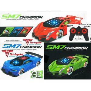 Elektrisches Spielzeug mit Fernbedienung Rennauto Sound Licht Auto 4 Farben