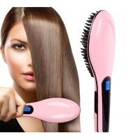 Elektrische Haarbürste Keramik LCD Haarglätter Glättbürste Glättungsbürste