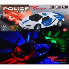 Lamborghini POLICE POLIZEI Auto Spielzeug mit Bewegung Motor Sound Licht Musik 20cm