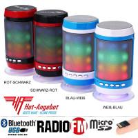 Bluetooth Externer Lautsprecher MP3-Player Radio Mikrofon USB microSD mit Akku