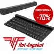 LG Tastatur KBB-700 Rolly Drahtlose Wireless Bluetooth AZERTY France Keyboard