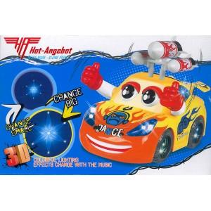Lustiges Auto mit Augen Arme Raketen Motor Lichteffekte Musik Tolles Geschenk