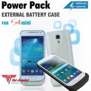 Power Case Bank für Samsung Galaxy S4 mini 2600mAh Externer zusätzlicher Akku