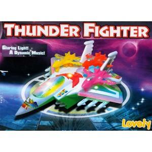 Flugzeug Militär Spielzeug Thunder Fighter Motor Licht Sound +3 Flugzeuge Rakete