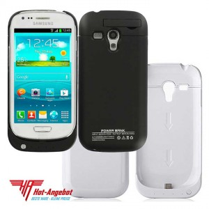 Externer Akku Power Case Samsung Galaxy S3 mini SIII-mini 2500 mAh schwarz weiß