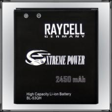 Handyakku RAYCELL 2450mAh BL-53QH für LG Optimus 4X HD L9 LTE 2 P760 P880 VS930 u.a.