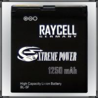 Handyakku RAYCELL BL-5F 1250 mAh für Nokia N95 N96 N93i E65 6290 6710 6210 6710n