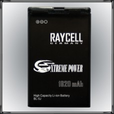 Handyakku RAYCELL BL-5J 1620 mAh für Nokia X6-00 5230 5800 N900 C3-00 5228 XM ..