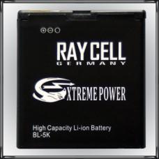 Handyakku RAYCELL BL-5K 1500mAh für Nokia Oro C7 N85 N86 8MP X7-00 701