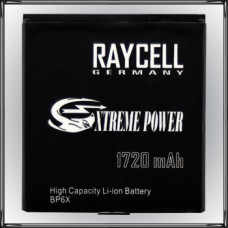 Handyakku RAYCELL BP6X 1720mAh für Motorola  Milestone 1 2 XT720 Dext CliQ Droid Pro