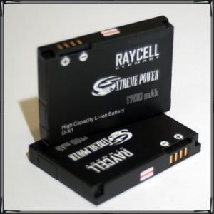 Handyakku RAYCELL D-X1 DX1 1700mAh für Blackberry 8900 Curve 9500 9530 9520 Storm 9650 Bold