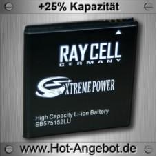 Handyakku RAYCELL EB575152LU 1800mAh  für Samsung Galaxy S i9000 SL i9003 S Plus i9001