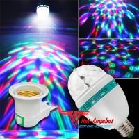 LED Lampe mit Adapter E27 Licht Effekt 3 Watt Rot/Grün/Blau Motor Disco Kugel