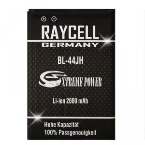 Handyakku RAYCELL BL-44JH 2000mAh für  LG AS730 LG730 Motion 4G MS770 L7 P700 L4 L5