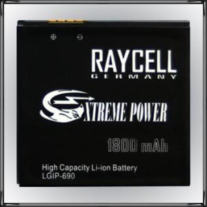 Handyakku RAYCELL LGIP-690  LGIP-690F 1800mAh für LG E900 Optimus 7