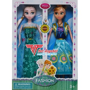 Set Puppen Anna und Elsa aus dem Film Eiskönigin Frozen Disney 29cm hoch. NEU