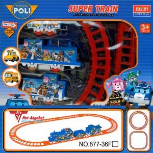 Zug mit Wagons und Schienen Eisenbahn Train Wagon 11 Teile Tolles Geschenk
